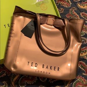Ted Baker Metallic Bow Tote